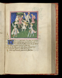 Edmund Praying After Being Shot With Arrows, In John Lydgate's 'The Lives Of Sts. Edmund And Fremund'